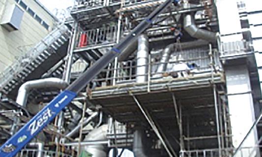 パルプ工場ボイラー修繕